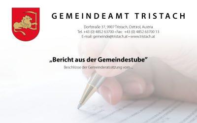 """""""Bericht aus der Gemeindestube"""" – 17.09.2020"""