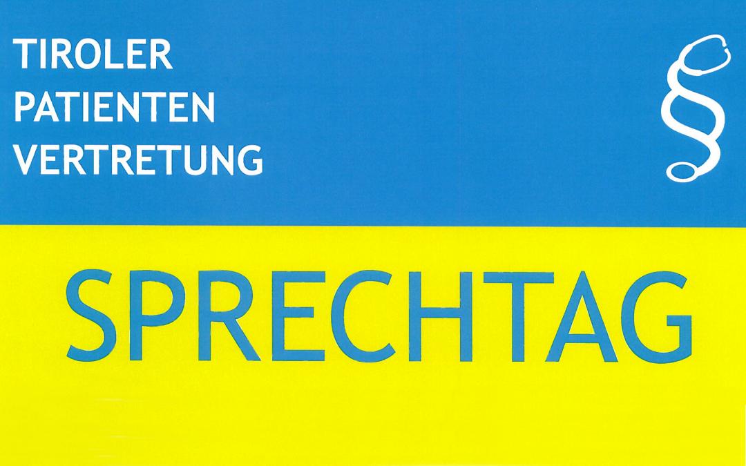 Sprechtag Patientenvertretung 14.03.2019, 10:00 – 13:00 Uhr BH Lienz