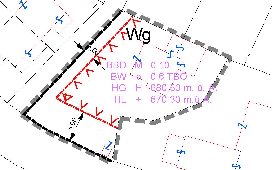 Bebauungsplan im Bereich der Grundstücke Gp. 935/2, 935/13, 1829, 1830, 1831, 1832 und 1833, alle KG Tristach