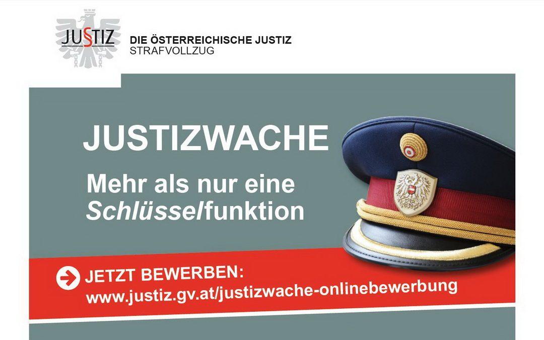 Justizwachdienst-Planstellenausschreibung