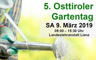 5. Osttiroler Gartentag 9. März 2019