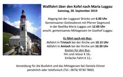 Kofel-Wallfahrt 28.09.2019