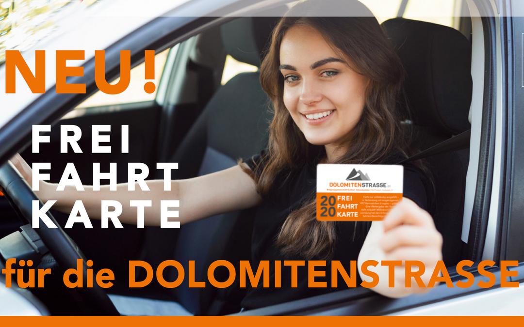 NEU! FREI-FAHRT-KARTE für die Dolomitenstraße