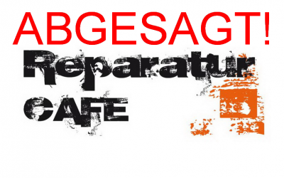 Absage Reparatur-Café 17.10.2020